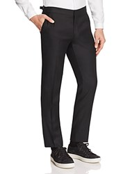 The Kooples Tailor Super 100'S Slim Fit Tuxedo Trousers Black