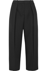 Joseph Saville Cropped Wool Crepe Wide Leg Pants