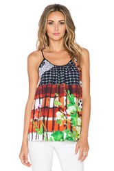 Clover Canyon Amber Plaid Tank Top Black
