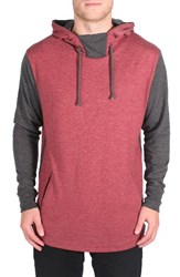 Imperial Motion Men's Restore Colorblock Hoodie Oxblood Charcoal