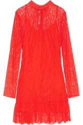 Mcq By Alexander Mcqueen Gathered Corded Lace Mini Dress It34