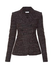 Altuzarra Seth Double Breasted Tweed Blazer Black Multi