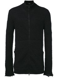 Lost And Found Ria Dunn Zipped Knitted Cardigan Men Linen Flax Polyamide Polyester Wool M Black