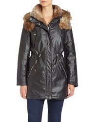 Marc New York Faux Fur Trimmed Anorak Black