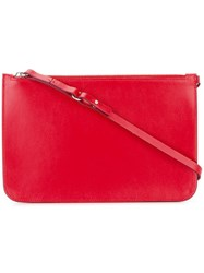 Maison Martin Margiela Top Handle Clutch Bag Red