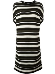 Gianluca Capannolo Striped Knitted T Shirt Dress Green