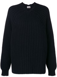 Hache Knit Sweater Black