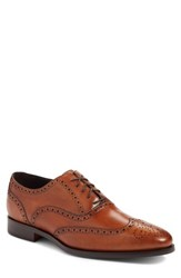 To Boot New York Ambler Wingtip Cognac Leather
