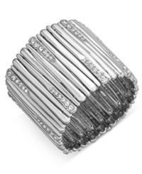 Inc International Concepts Pave Stick Stretch Bracelet Created For Macy's Silver