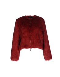 Mangano Coats And Jackets Fur Outerwear Red