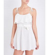 For Love And Lemons Skivvies Little Rosette Georgette Nightgown Ivory