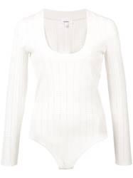 Barbara Casasola Scoop Neck Jumper White