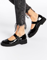 Truffle Collection Bet Chunky Strap Flat Shoes Blackpatent