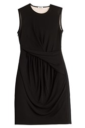 Issa Draped Jersey Dress Black