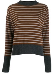 Sofie D'hoore Manda Striped Jumper Neutrals