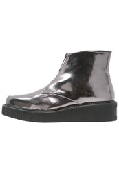 Sixty Seven Sixtyseven Elodie Platform Boots Caolin Pewter Silver