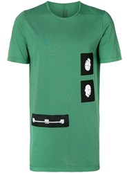 Rick Owens Drkshdw Double Face T Shirt Green