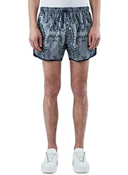 James Long Paisley Print Shorts Navy