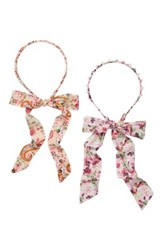 Berry Fabric Wrapped Headbands Pack Of 2 Multi