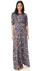 Re Named Little Blooms Maxi Dress Navy Multi