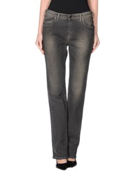 Trussardi Jeans Denim Denim Trousers Women Steel Grey