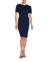 T Tahari Fitted Sheath Dress Navy