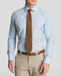 Hamilton Check Dress Shirt Classic Fit Bloomingdale's Exclusive Aqua