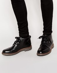 Firetrap Leather Lace Up Desert Boots Black