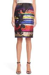 Women's Trina Turk 'Crissy' Stripe Pencil Skirt