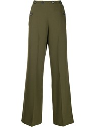 Roland Mouret Wide Leg Trousers Green