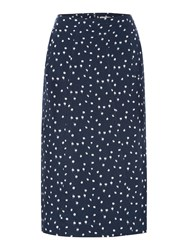Noa Noa Below Knee Skirt Blue