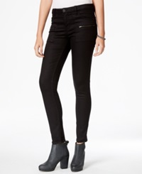 Sanctuary Zipper Pocket Skinny Pants Black