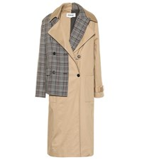 Monse Cotton Blend Trench Coat Beige