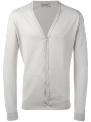 John Smedley Classic Knitted Cardigan Nude Neutrals