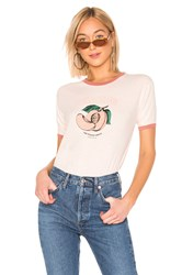 Auguste Peaches Ringer Tee Pink