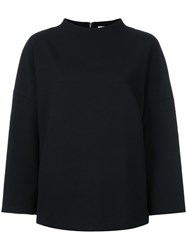 Enfold Wide Neck Oversized Jumper Black