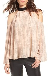 Chelsea 28 Women's Chelsea28 Pleat Cold Shoulder Top