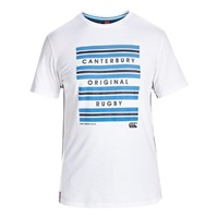 Canterbury Of New Zealand Hoop Stripe T Shirt White