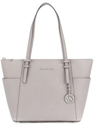 Michael Kors Open Top Tote Bag Calf Leather Grey