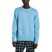 Barneys New York Oversized Cotton Sweater Lt. Blue