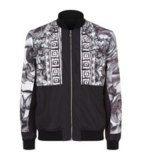 Versace Collection Half Baroque Bomber Jacket Male Black