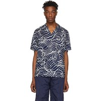 Blue Blue Japan Navy Wave Short Sleeve Shirt