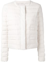Fabiana Filippi Cropped Padded Jacket Women Polyamide Polyester Goose Down Duck Feathers 44 Nude Neutrals