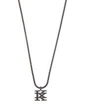 Ktz K Logo Pendant Necklace Black Matte