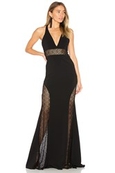 Jay Godfrey Tenor Gown Black