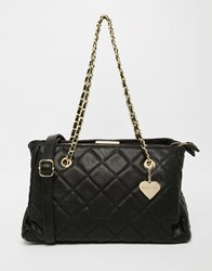 Marc B Kate Quilted Shoulder Bag Black