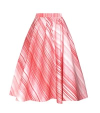 Vika Gazinskaya Striped Midi Skirt Red