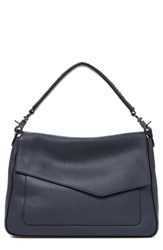 Botkier Cobble Hill Slouch Calfskin Leather Hobo Blue Winter Navy