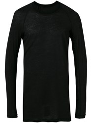 11 By Boris Bidjan Saberi Longsleeve T Shirt Men Cotton Cashmere L Black