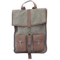 Kjore Project Evolution Of Goods Leather And Canvas Survey Classic Backpack Green